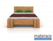 Łóżko drewniane Arhus High BC Buk Materace Dla Ciebie