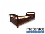 Łóżko drewniane Towa z pojemnikiem Materace Dla Ciebie